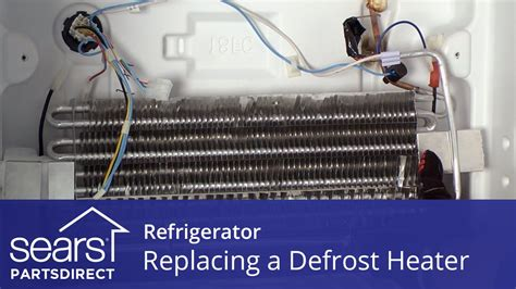 replace  refrigerator defrost heater youtube