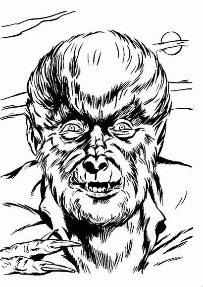 Coloring Universal Monsters Monster Horror Wolfman Colouring