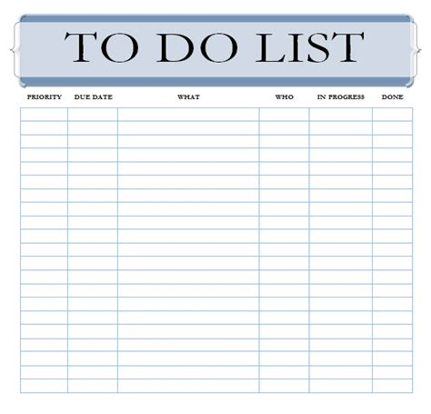 word template to do list 7 to do list templates word excel pdf templates