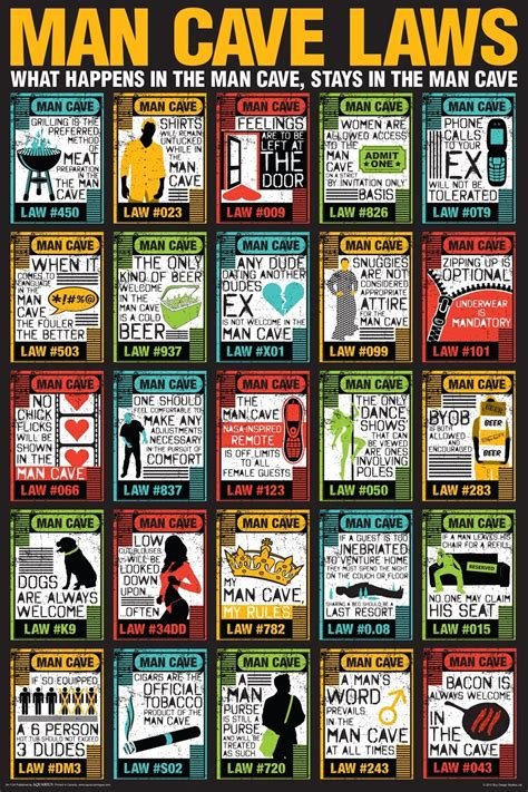 man cave laws poster gift search