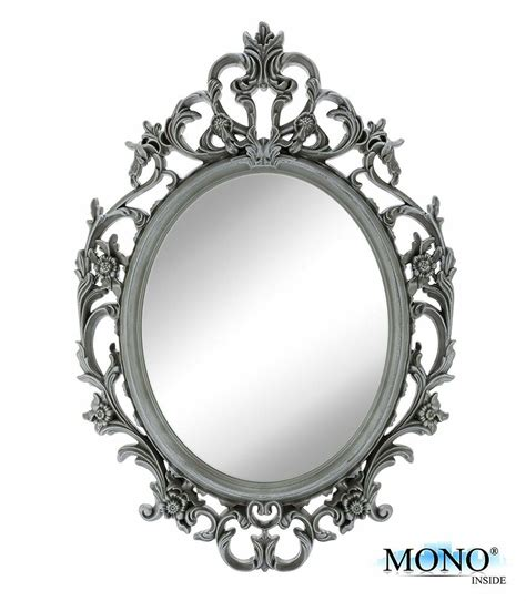 Decorative Mirror - small decorative framed oval wall mounted mirror classic