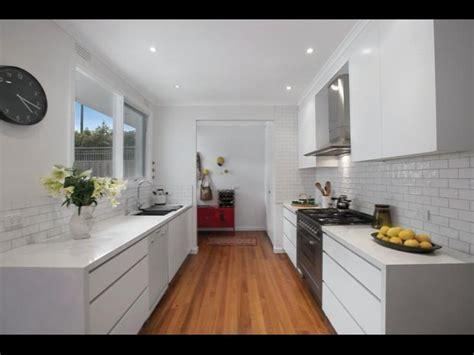 modern white galley kitchen kitchens pinterest