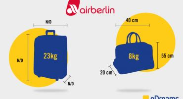 air berlin cabin baggage luggage and checked baggage allowance by airline
