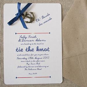 All aboard shipmates styling and ideas for a nautical for Nautical wedding invitations with photo