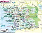 San Diego county cities map - Map of San Diego county ...