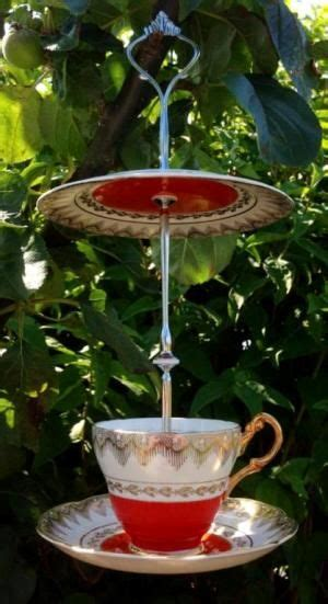 teacup bird feeders ideas  pinterest bird