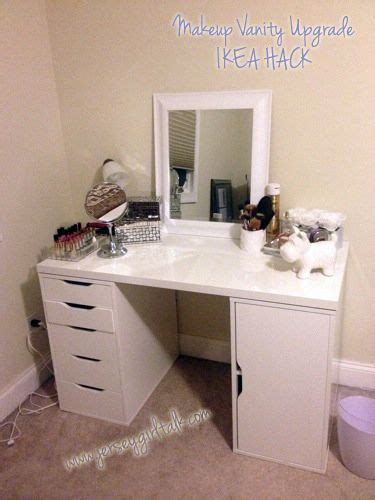 Diy Vanity Table Ikea by Diy Makeup Vanity Desk Set Up Alex Ikea Hack Vanity