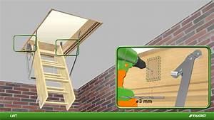 Escalier Escamotable Grenier : fakro escaliers escamotables lwt youtube ~ Melissatoandfro.com Idées de Décoration