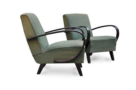 Poltrone Vintage Anni '30 Art Deco In Faggio Curvato