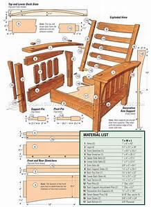 classic morris chair plans woodarchivist