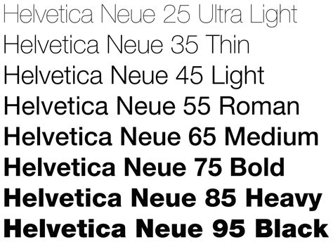 Font Weight Light by File Helvetica Neue Typeface Weights Svg Wikimedia Commons