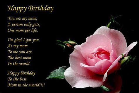 happy birthday mom poems happy birthday
