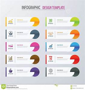 Modern Tab Index Infographic Options Template With Paper ...