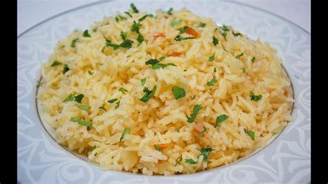 simple rice pilaf recipe fragrant rice youtube