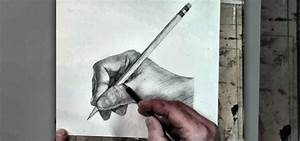 How to Sketch a human hand holding a pencil drawing ...