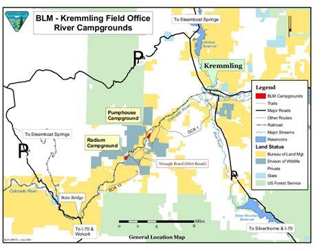 Upper Colorado River Rafting Maps: BLM Kremmling, Pump ...