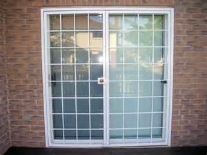 double patio door white 9x9