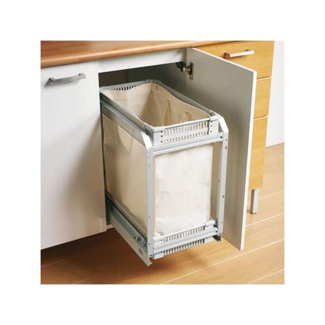 amortisseur tiroir cuisine panier à linge coulissant tissu