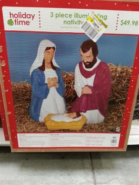 walmart blow mold nativity set christmas pinterest