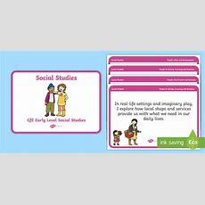 * New * Cfe Early Level Social Studies Experiences And Outcomes Display
