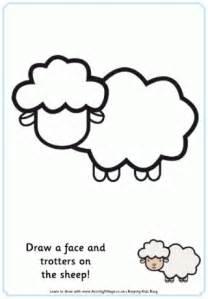 sheep template sheep printables