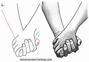 How to Draw Holding Hands with Easy Step by Step Drawing ...