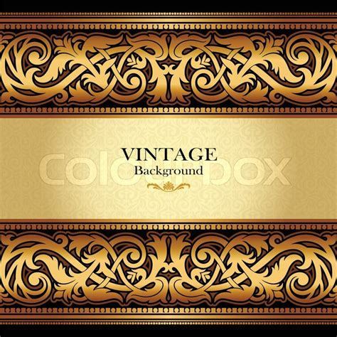 vintage gold background antique stock vector