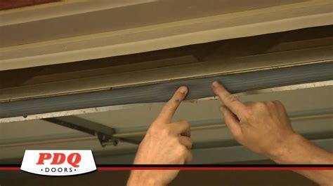 how to replace garage door seal garage door not sealing garage door weather seal options pdq doors cincinnati ohio
