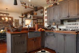 Primitive Decor Kitchen Cabinets by Primitive Country Kitchen Country Primitive Kitchens