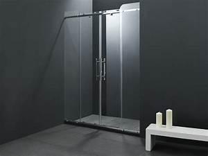 paroi douche coulissante maison design wibliacom With porte de douche coulissante avec radiateur electrique design salle de bain