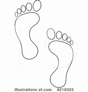 Footprints Clipart #218325 - Illustration by Pams Clipart