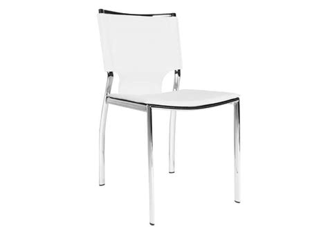 chaise en cuir contemporaine blanc ascoli chaises