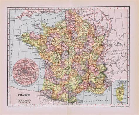 antique paris  france map printables knick  time