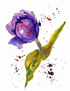 Single Flower Watercolor | www.imgkid.com - The Image Kid ...