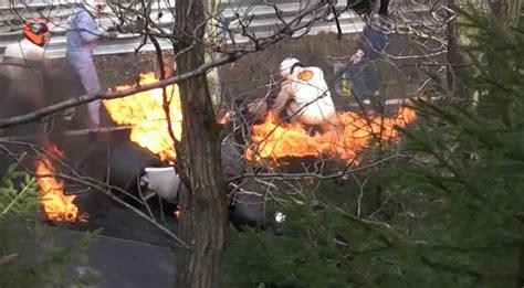 niki laudas infamous nuerburgring crash restaged  rush