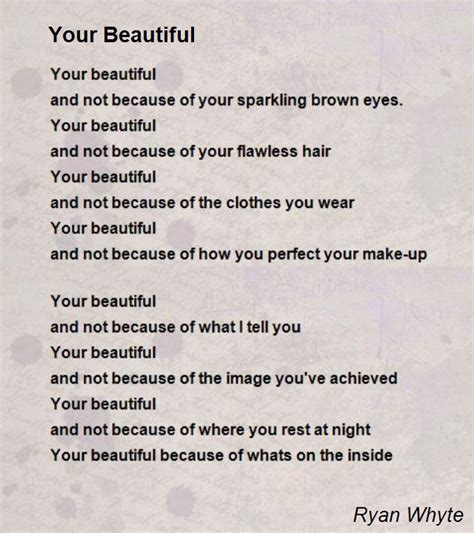 Brown Hair Poem by Your Beautiful Poem By Whyte Poem