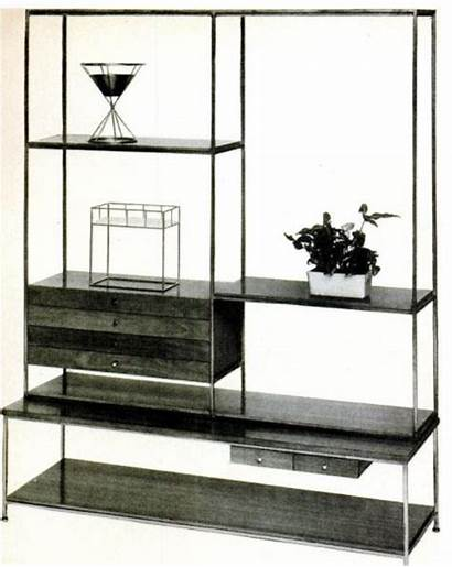 Divider Bookcase Sectioned Dividers Modern Mid Century