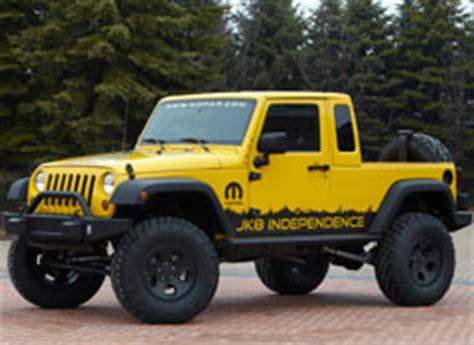 jeep offers  build   pickup truck conversion