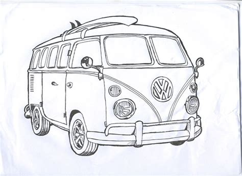 volkswagen bus drawing 285 best vehicle line drawings images on pinterest