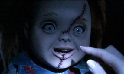 Hi Chucky Gifs Play Creepy Wanna Giphy