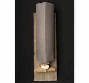 Applique Murale Bois Flotté : lampe applique bois flott lampe bois flott luminaire design ~ Teatrodelosmanantiales.com Idées de Décoration