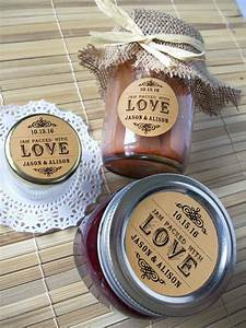 kraft paper jam packed with love wedding bridal shower With canning jar sticker labels