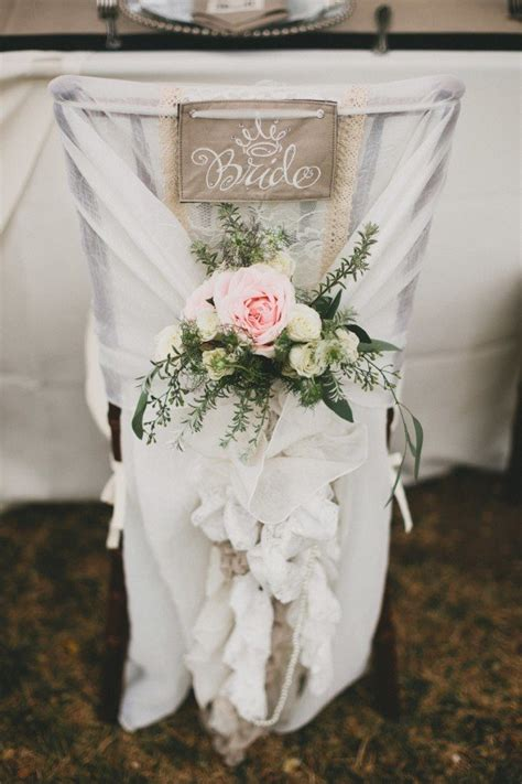 chic bride  groom wedding chair decoration ideas