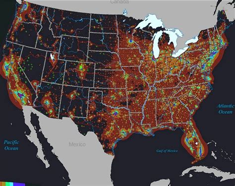 pollution map the sky light pollution and wildness pmags Light