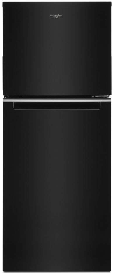 whirlpool  cu ft black counter depth top freezer refrigerator wrtczjb friedmans