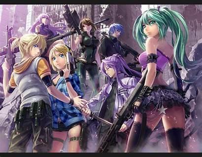 Vocaloid Anime Miku Ass Hatsune Gun Luka