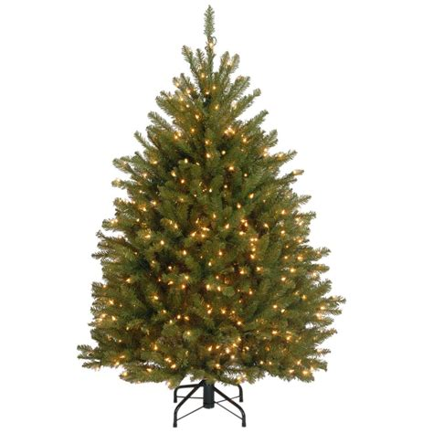 dunhill artificial tree corporation national tree company 4 5 ft dunhill fir artificial tree with clear lights duh 45lo
