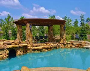 Outdoor & Garden: Wonderful Tropical Pools With Pergola