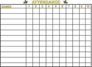 Printable Attendance Register Printable Sunday School Attendance Charts Attendance