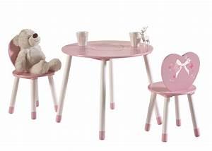 Ensemble Chaise Et Table : ensemble table et 2 chaises enfant coloris rose gigi ~ Dailycaller-alerts.com Idées de Décoration
